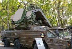Exposición de la tecnología militar Foto de archivo libre de regalías