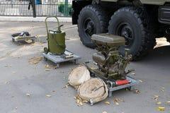 Exposición de la tecnología militar Fotos de archivo