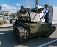 Exposición de la tecnología militar Foto de archivo