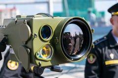 Exposición de la tecnología militar Imagen de archivo libre de regalías