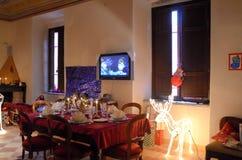 Exposición de las decoraciones de la Navidad Foto de archivo