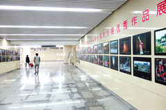 Exposición de las fotos del túnel del subterráneo Fotos de archivo libres de regalías