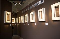 Exposición de las pastas en Italia Fotografía de archivo libre de regalías
