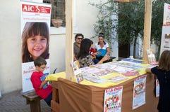 Exposición de las pastas en Italia Imágenes de archivo libres de regalías