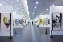 Exposición de las pinturas imágenes de archivo libres de regalías