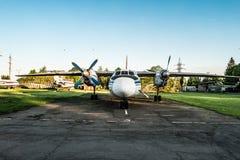 Exposición de los aeroplanos de Aeroflot en Kryvyi Rih Imagen de archivo