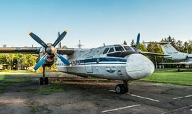 Exposición de los aeroplanos de Aeroflot en Kryvyi Rih Fotografía de archivo libre de regalías