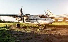 Exposición de los aeroplanos de Aeroflot en Kryvyi Rih Fotografía de archivo