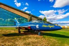 Exposición de los aviones Imagen de archivo