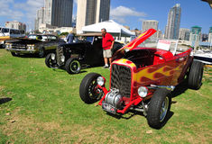 Exposición de los coches del colector Fotos de archivo