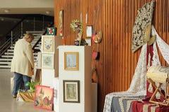 Exposición de los trabajos de los niños Foto de archivo