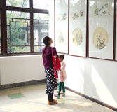 Exposición de pinturas chinas Imagen de archivo libre de regalías