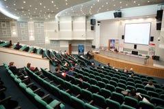 Exposición de tecnologías médicas en Rusia Imágenes de archivo libres de regalías