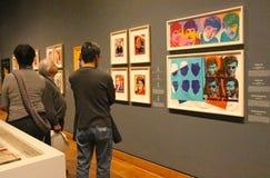 Exposición de Warhol Fotografía de archivo