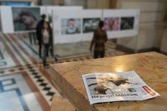 Exposición de World Press Photo en Budapest Imágenes de archivo libres de regalías