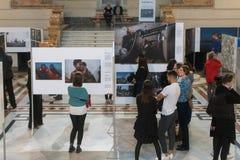 Exposición de World Press Photo en Budapest Foto de archivo libre de regalías