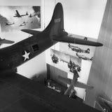 Exposición del aeroplano en museo nacional de WWII Imagen de archivo libre de regalías