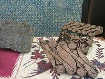 Exposición del batik en Jakarta Imágenes de archivo libres de regalías