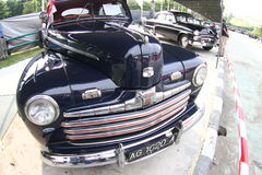 Exposición del coche del vintage Foto de archivo