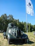 Exposición del equipo militar del vintage en la región de Kaluga en Rusia el 26 de junio de 2016 Imágenes de archivo libres de regalías