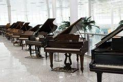 Exposición del piano de cola foto de archivo libre de regalías