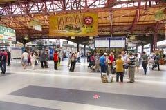 Exposición del tren en Gara de Nord Fotos de archivo