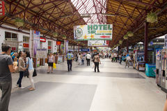 Exposición del tren en Gara de Nord Fotografía de archivo