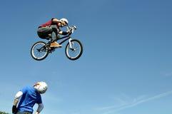 Exposición del truco de la bicicleta Foto de archivo