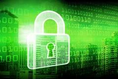 Exposición doble de la tecnología del candado, datos cibernéticos Prote de la seguridad fotos de archivo libres de regalías