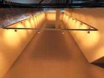 Exposición en blanco vacía de la galería Imagen de archivo libre de regalías