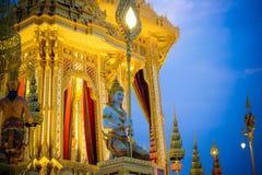 Exposición en ceremonia real de la cremación de su rey Bhumibol Adulyadej, tierra ceremonial de Sanam Luang, Bangkok, Tailandia d imagen de archivo libre de regalías