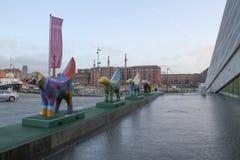 Exposición en las calles de Liverpool Foto de archivo libre de regalías