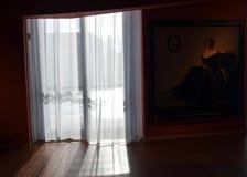 Exposición impresionista - Aún-vida con la ventana Imagen de archivo libre de regalías