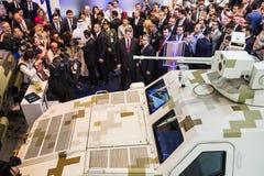 Exposición internacional de la defensa en Abu Dhabi Foto de archivo libre de regalías