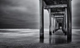 Exposición larga de California de la playa de La Jolla Imágenes de archivo libres de regalías
