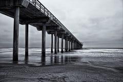Exposición larga de California de la playa de La Jolla Fotografía de archivo libre de regalías