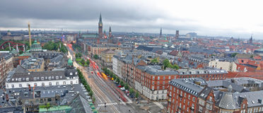 Exposición larga de Copenhague Imagen de archivo