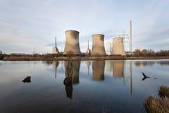 Exposición larga de la central eléctrica Imagen de archivo