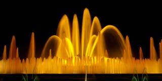Exposición larga de la fuente mágica de Barcelona Imagen de archivo