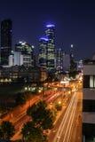 Exposición larga de la noche de Melbourne Imagen de archivo