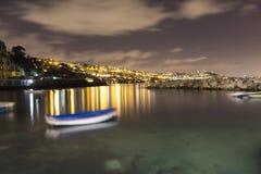 Exposición larga de Nápoles Imagen de archivo libre de regalías