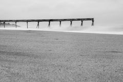 Exposición larga de Vero Beach Pier fotos de archivo