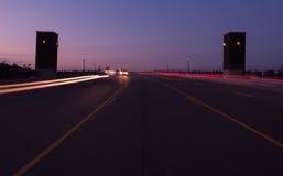 Exposición larga del puente Fotografía de archivo libre de regalías