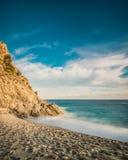 Exposición larga en la playa Imagen de archivo libre de regalías