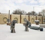 Exposición militar del equipo Museo al aire libre en Prerov nad Labem Imagen de archivo
