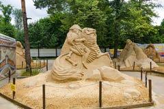 Exposición rusa de las esculturas de la arena composición Fotografía de archivo libre de regalías