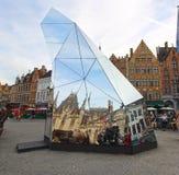 Exposición temporal en Brujas foto de archivo libre de regalías