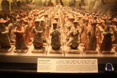 Exposición en un museo de la historia Imagenes de archivo