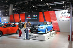 Exposición internacional 2014 de China en los vehículos verdes y económicos de energía Imagenes de archivo