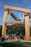 Exposición temporal de Frank Gehry - opinión del interruptor Foto de archivo